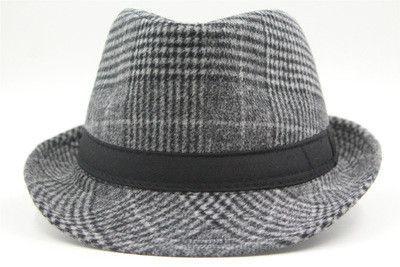 a3e031f06bfa1 New Wool Felt Fedora Hats For Men Chapeau Masculino Panama Hats Jazz Trilby  Gangster Cap