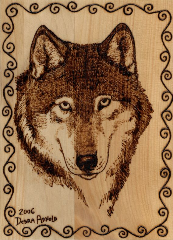Free Printable Wood-Burning Patterns Woodburning Wolf Portrait by
