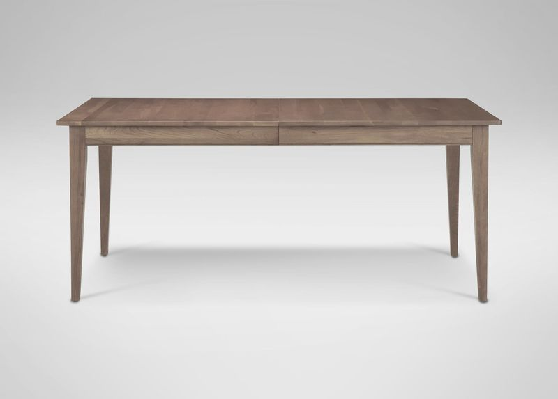 """Ethan Allen - Rowan Small Dining Table in Pumice.   64-100"""" x 38"""".   $1,859 (no trade discount)"""
