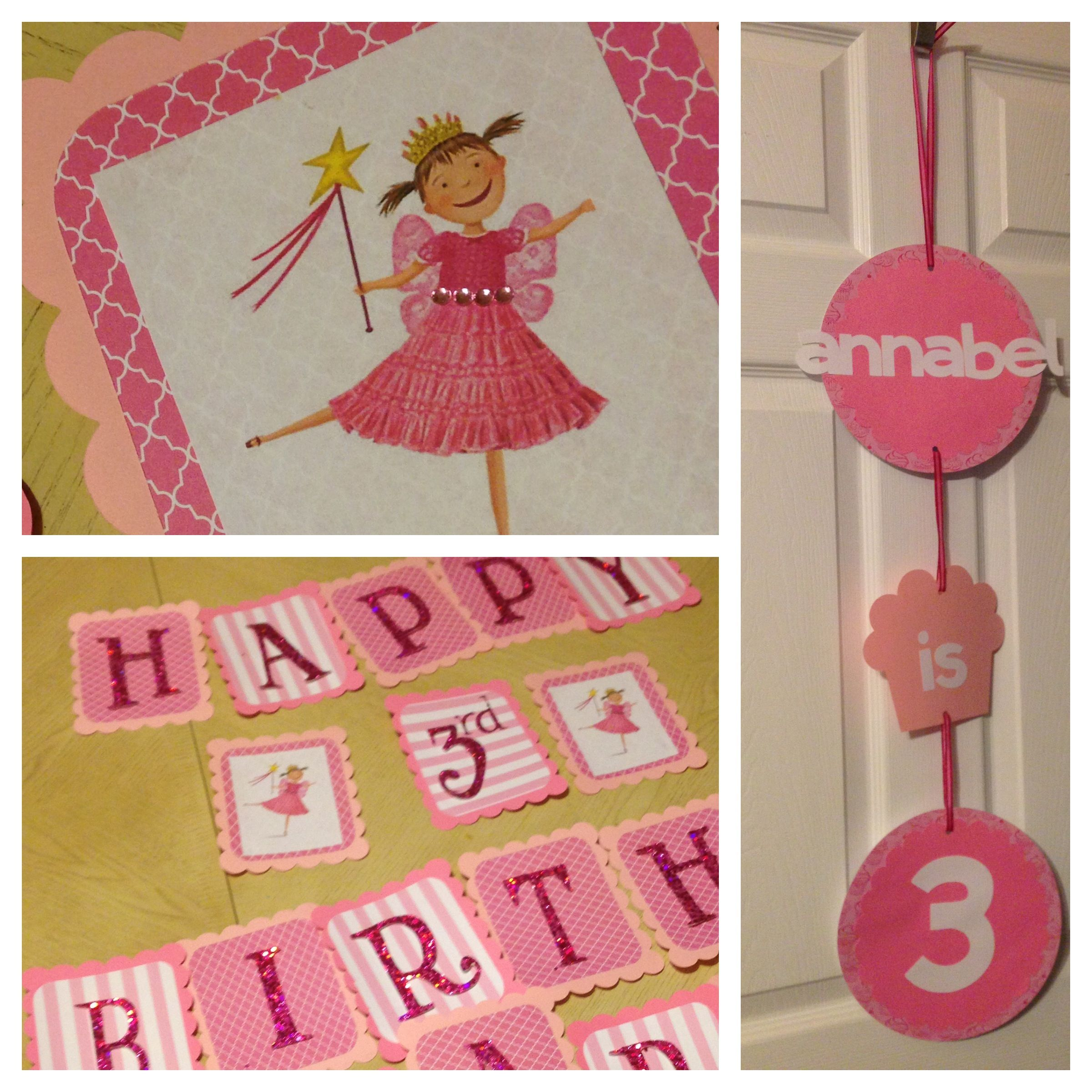 Personalized Pinkalicious Birthday Wall Banner Digital File ONLY