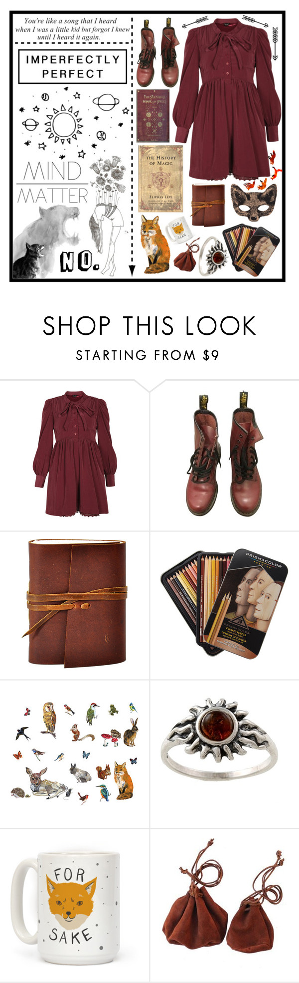 """""""HP // 3"""" by hirae-th ❤ liked on Polyvore featuring Vita, Dr. Martens, DOMESTIC, Amber Sun, Levi's and Børn"""