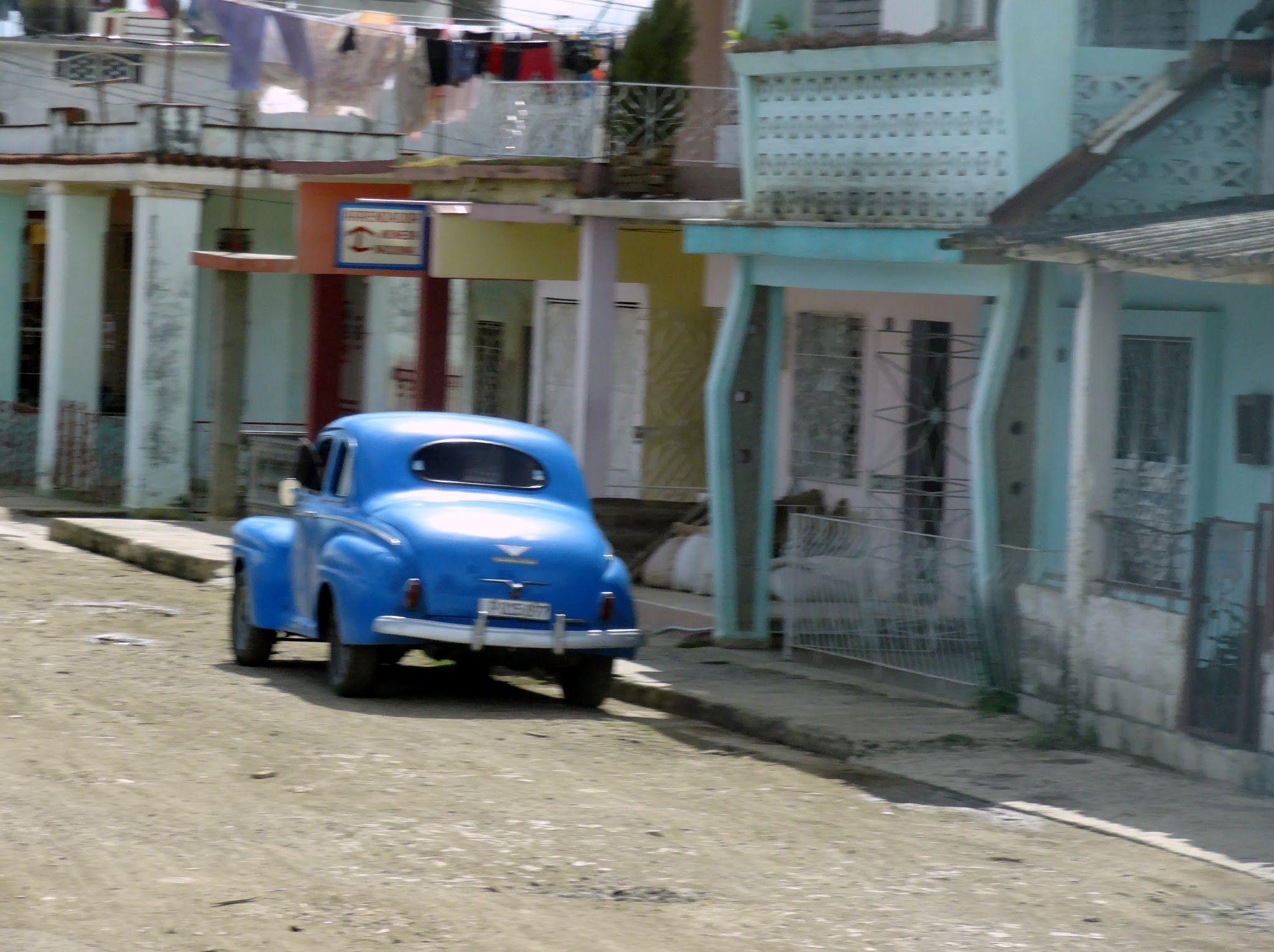 Classic car on the street in in Ciego de Ávila, Cuba. Photo taken by Brian Kaylor during a trip for the COEBAC's 40th anniversary celebration at Iglesia Bautista Enmanuel (Emmanuel Baptist Church).