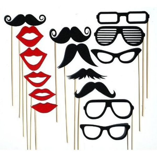 Party Wedding Photo Booth Props Mustache On A Stick Photography