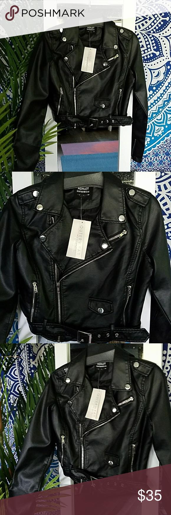 25 Off Ashley Outerwear Faux Leather Moto Black Faux Leather Moto Jacket Clothes Design Fashion Design [ 1740 x 580 Pixel ]
