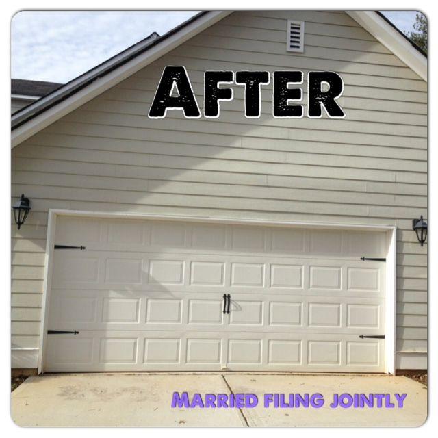 Garage Door Makeover Decorative Door Kit Sold At Lowes