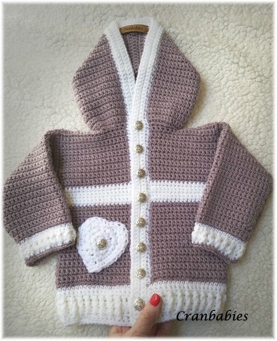 1305a6c6c Toddler Baby Hoodie mauve sweater w  mauve beanie.Cute Crocheted ...