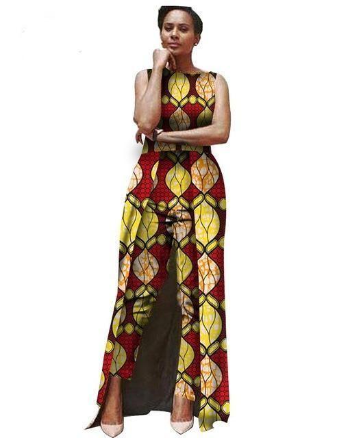 African Clothing Ankara dashiki Jumpsuit Body Suit for women Cotton Wax  Batik Print Plus Size. 33c7c5c94236