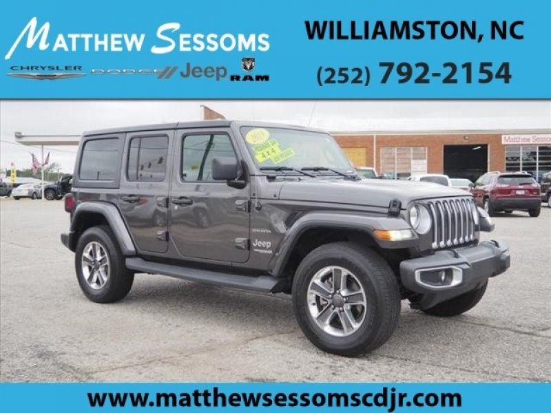 Used 2019 Jeep Wrangler 4wd Unlimited Sahara For Sale In