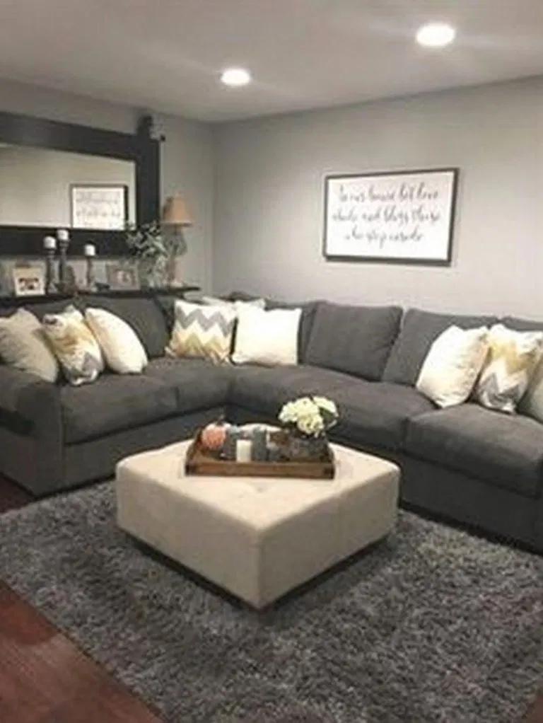 50 Cozy Farmhouse Living Room Makeover Decor Ideas in 2020 ...