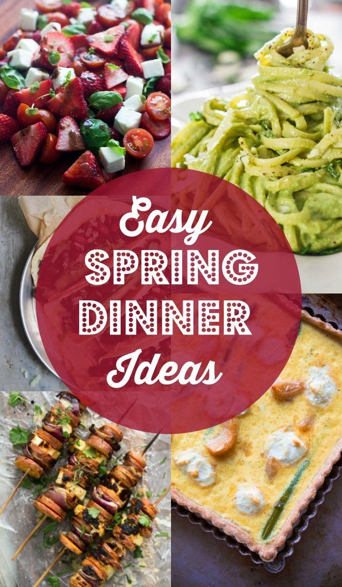 easy spring dinner ideas meal plan | food | pinterest | spring
