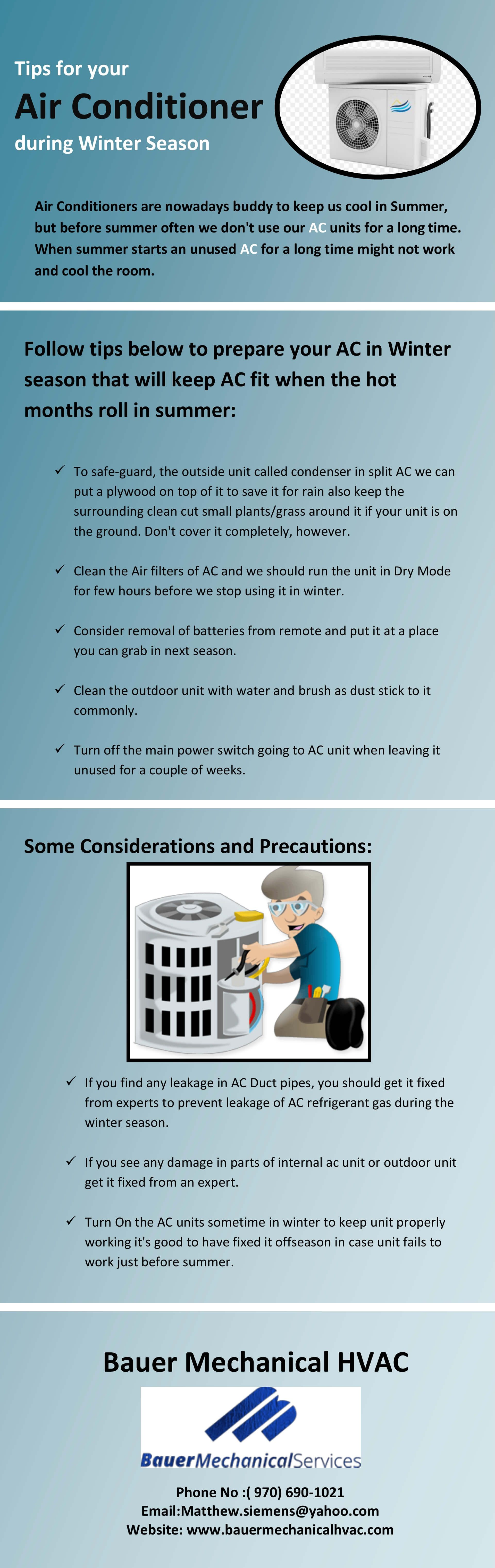 Tips for your Air Conditioner during Winter Season Air