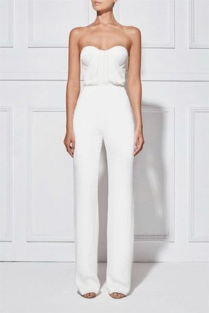 e4c937f4ef95 sleek and simple bridal jumpsuit - brides of adelaide