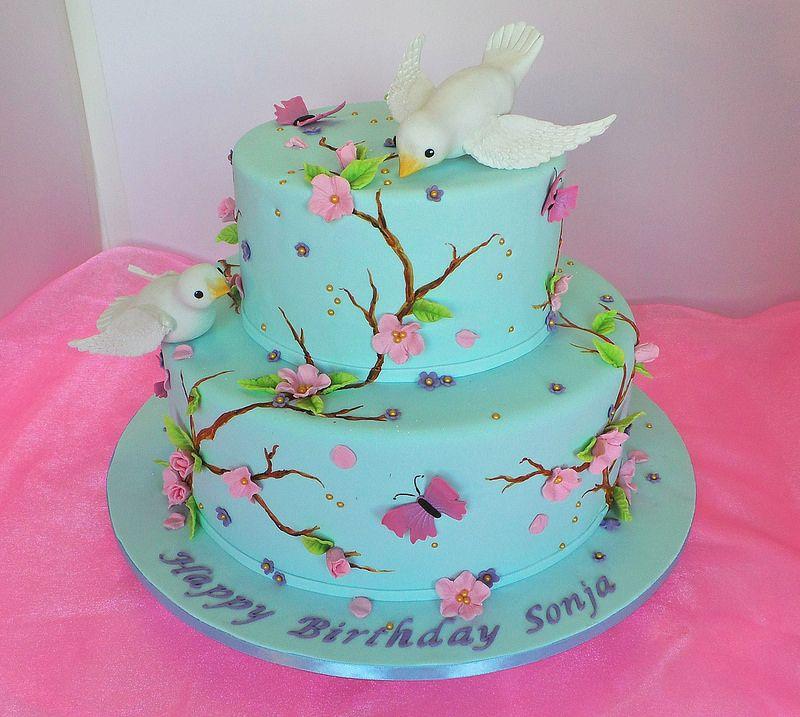 Spring time themed womens birthday cake Birthday cake design