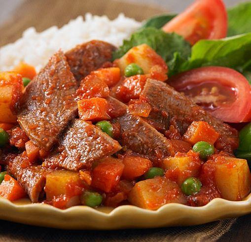 Receta De Lengua De Res En Salsa De Jitomate Con Verduras Recetas Con Res Lengua De Res Guiso De Verduras