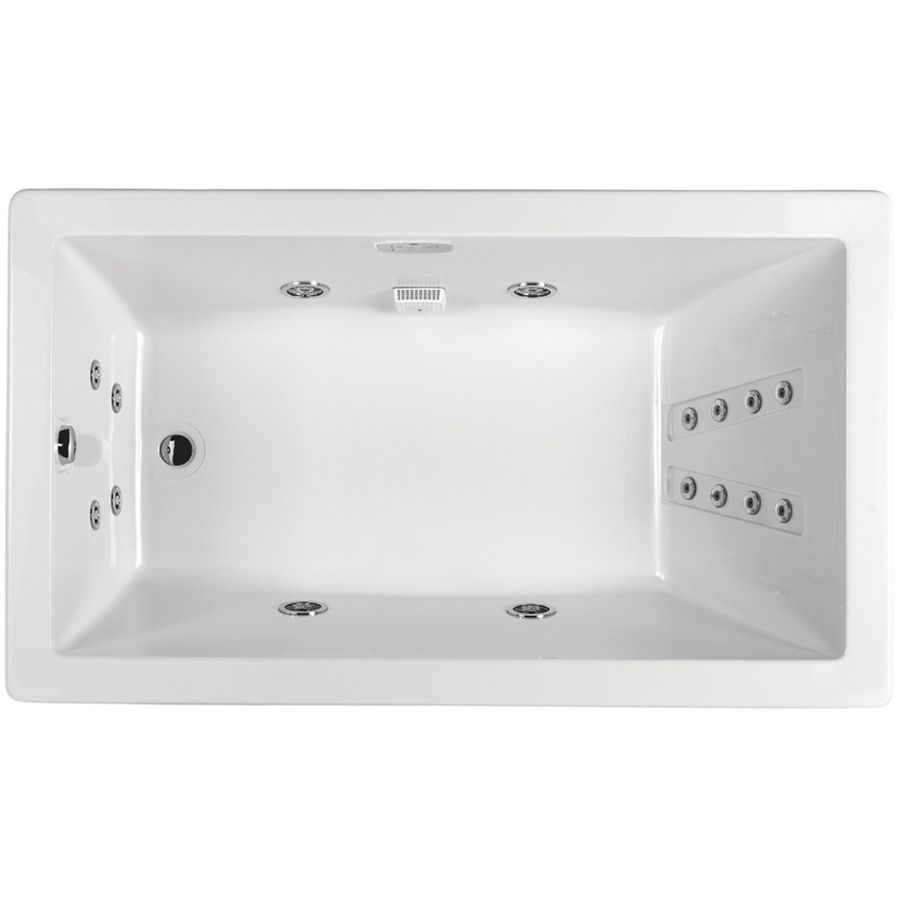 Jacuzzi Solna White Acrylic Rectangular Whirlpool Tub (Common: 36-In ...