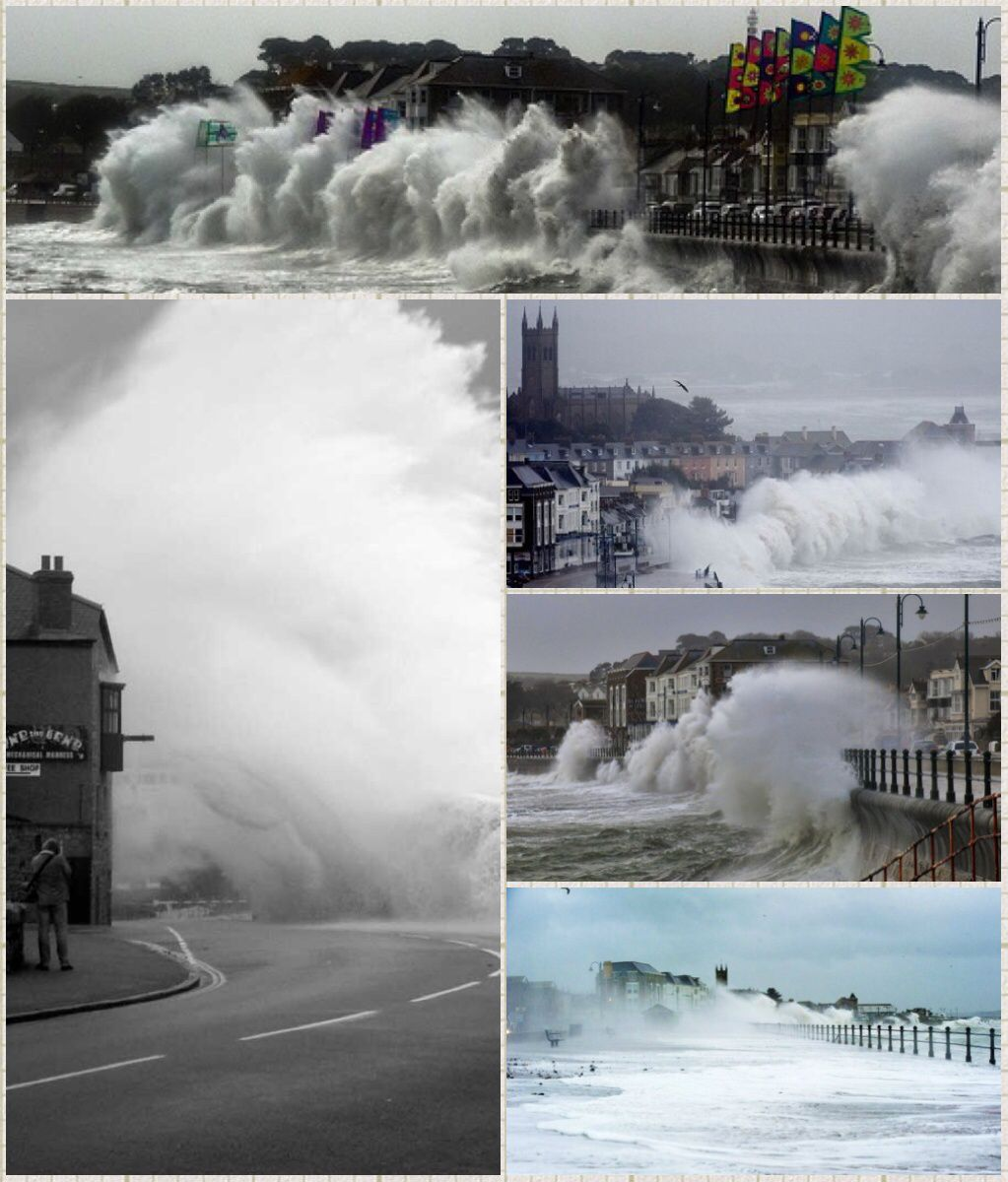 Storm images of Penzance Cornwall, includes some images ...Hurricane Sally 2014