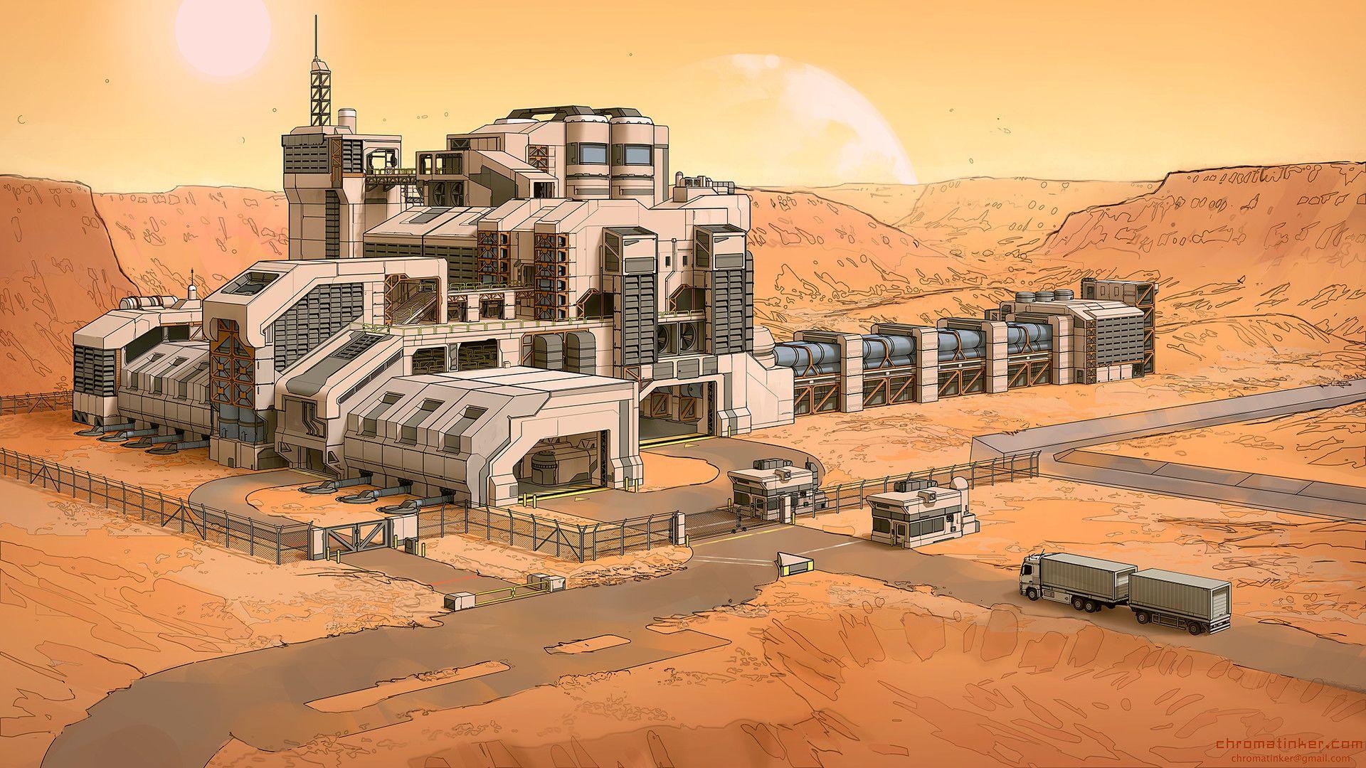 ArtStation - Exoplanet Metal Refinery, Adam Taylor ...