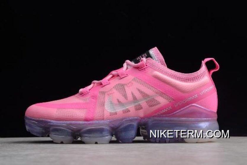 68fe7e81c6c17 Women WMNS Nike Air VaporMax 2019 Pink Running Shoes AR6632-600 ...