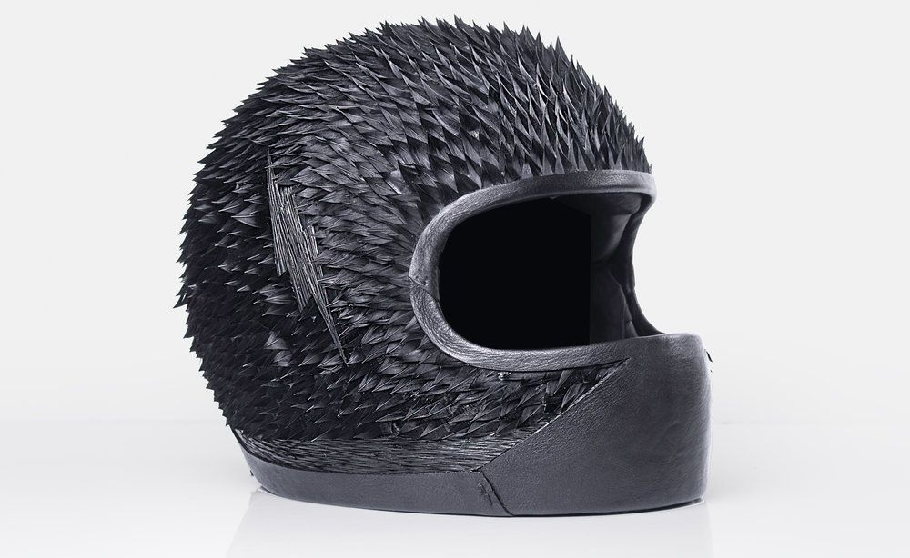 The Black Angel- This customised BMW bike and helmet originally created for a competitive race, was recently displayed on exhibition at the Grand Palais in Paris. Produced on behalf of Paris-based custom motorcycles garage Blitz Motorcycles.  Photography courtesy of saccobaret.com