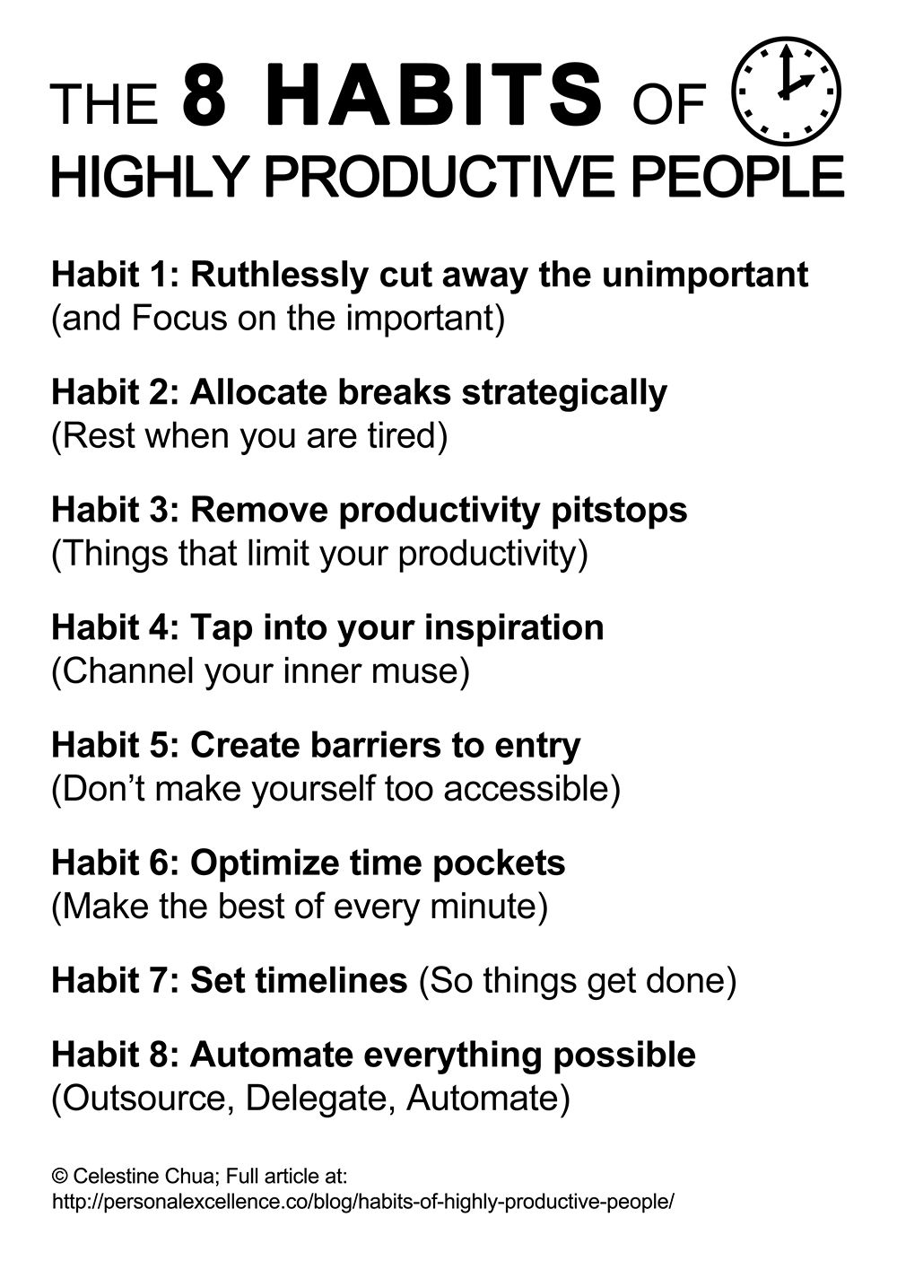 The 8 Habits Of Highly Productive People Time Management