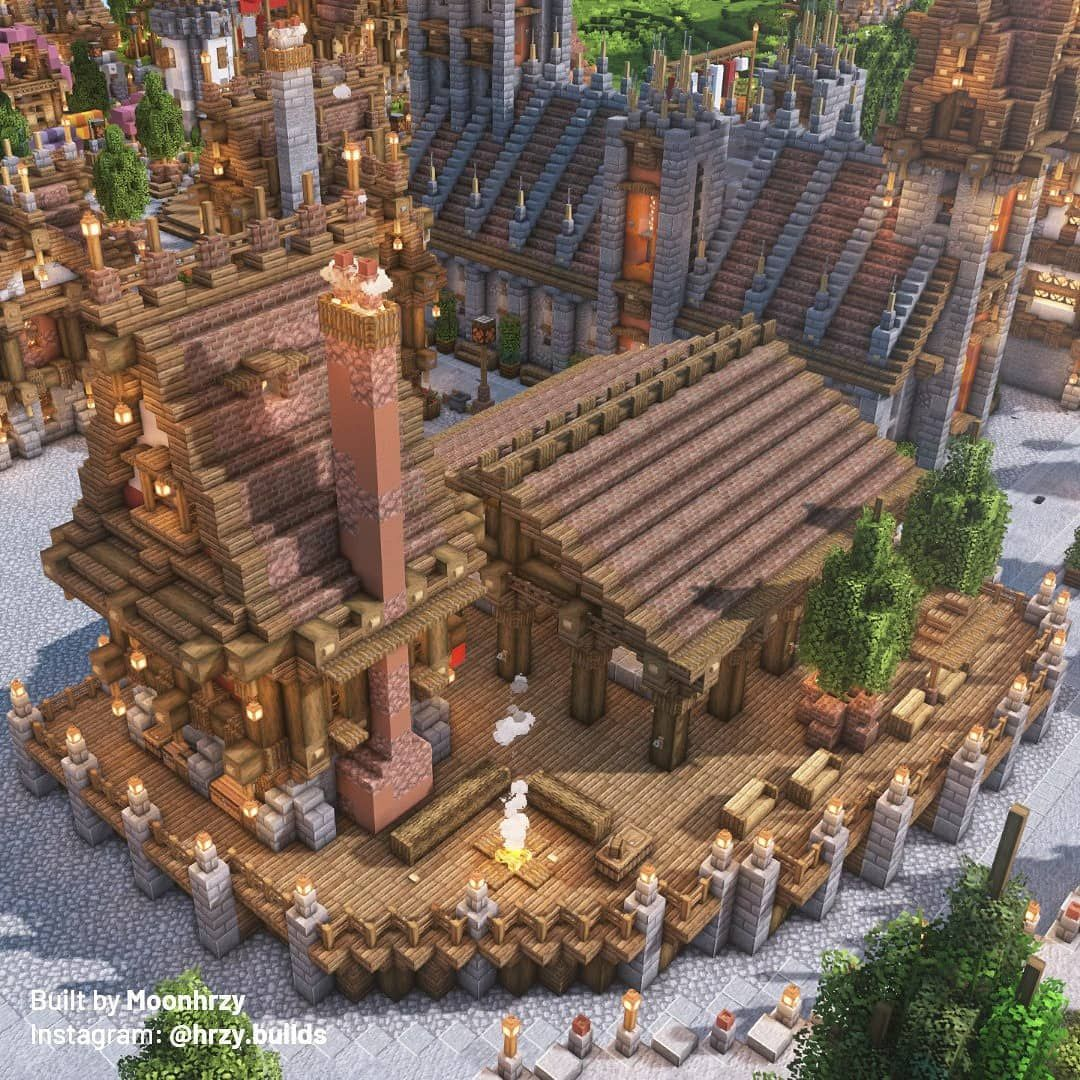 3 308 Likes 23 Comments Hrzy Hrzy Builds On Instagram Elevated Banquet Plaza Bsl V7 1 Shad In 2020 Minecraft Designs Minecraft Survival Minecraft Architecture