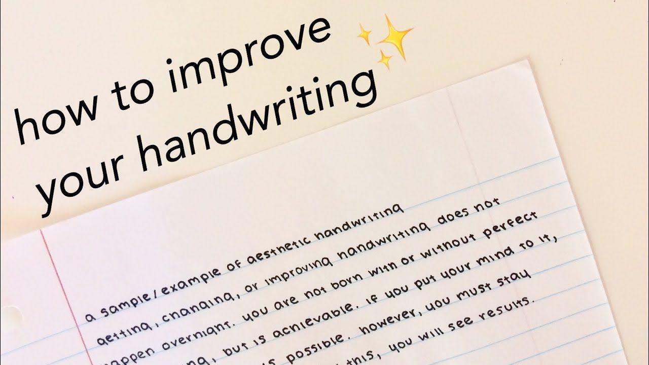 Handwriting improvement | Improve your handwriting ...