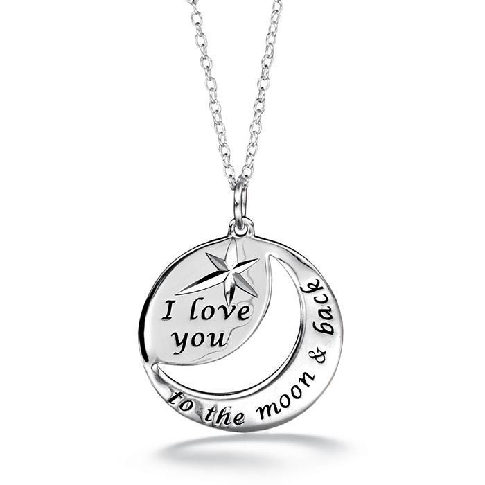Sterling Silver I Love You To The Moon And Back Necklace Back Necklace Avon Jewelry Fine Silver Jewelry