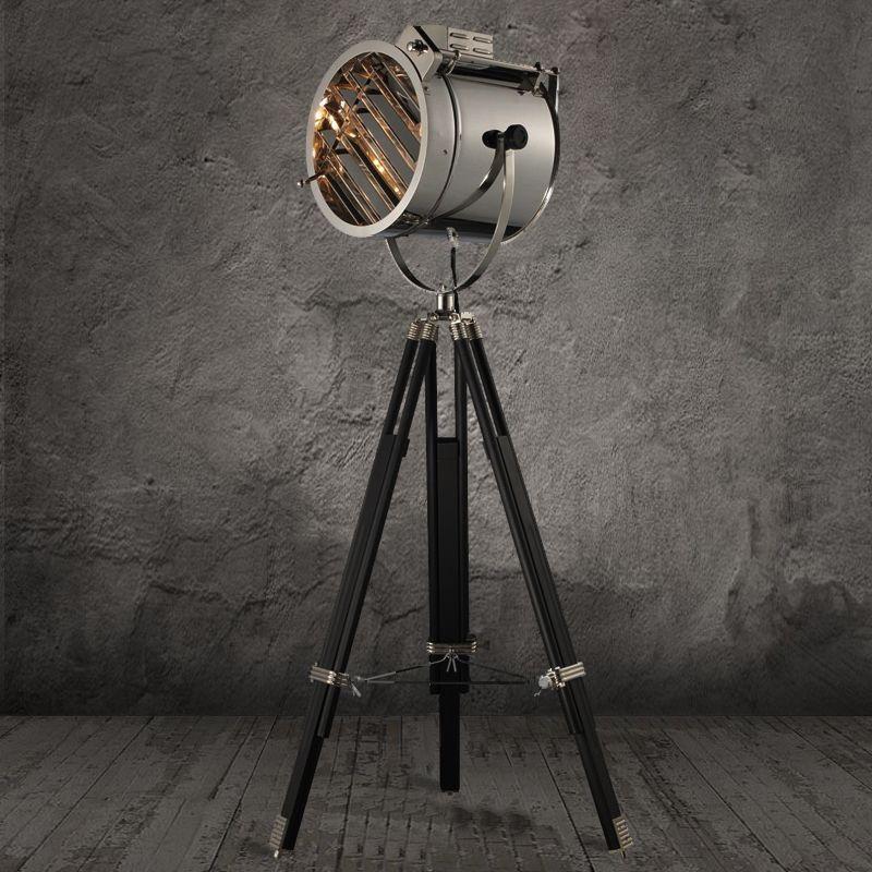 Goedkope marine statief vloerlamp studio retro zwart floor for Verlichting duiven outlet