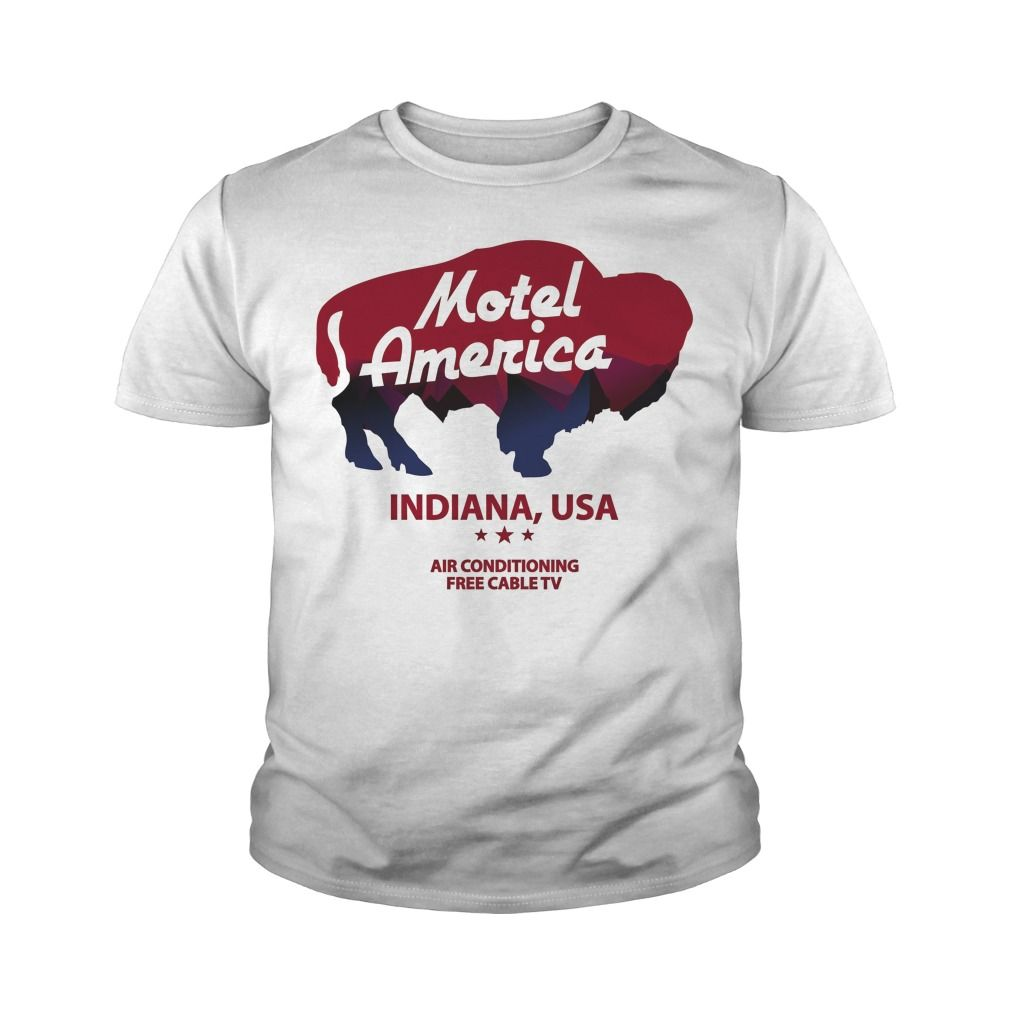 Motel America Home of the Gods youth tee