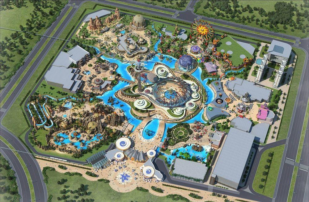 Chuzhou Theme Park China Amusement Park Plan Theme Park Planning Parking Design
