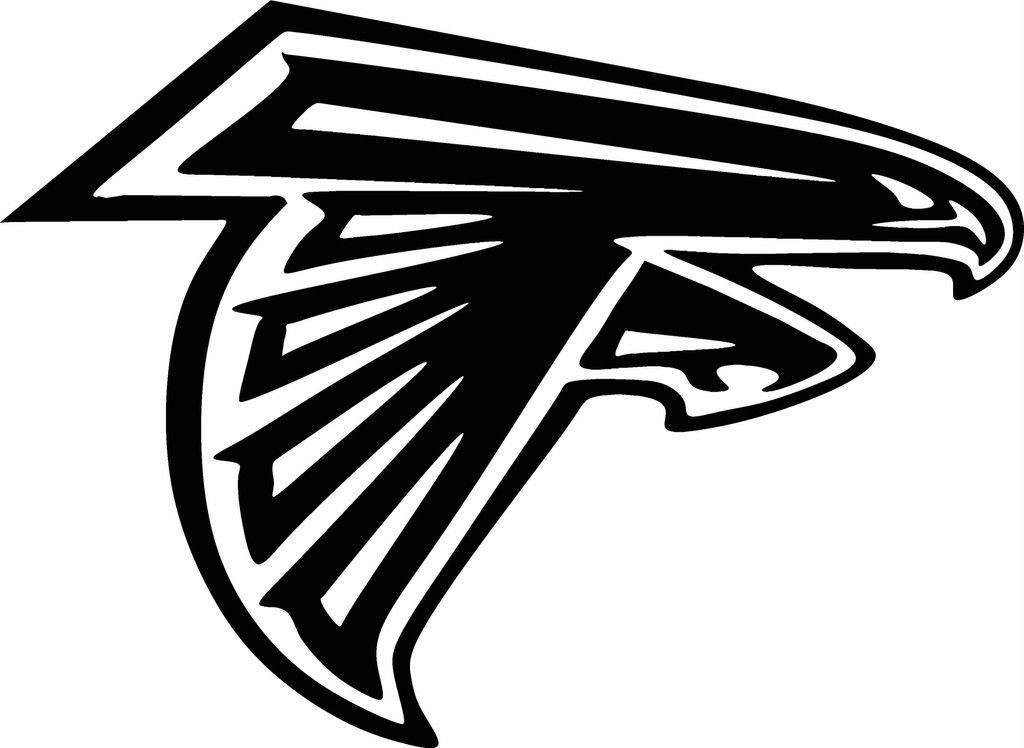 Atlanta Falcons LOGO Vinyl Cut Out Decal Choose Your Color And - Football custom vinyl decals for cars