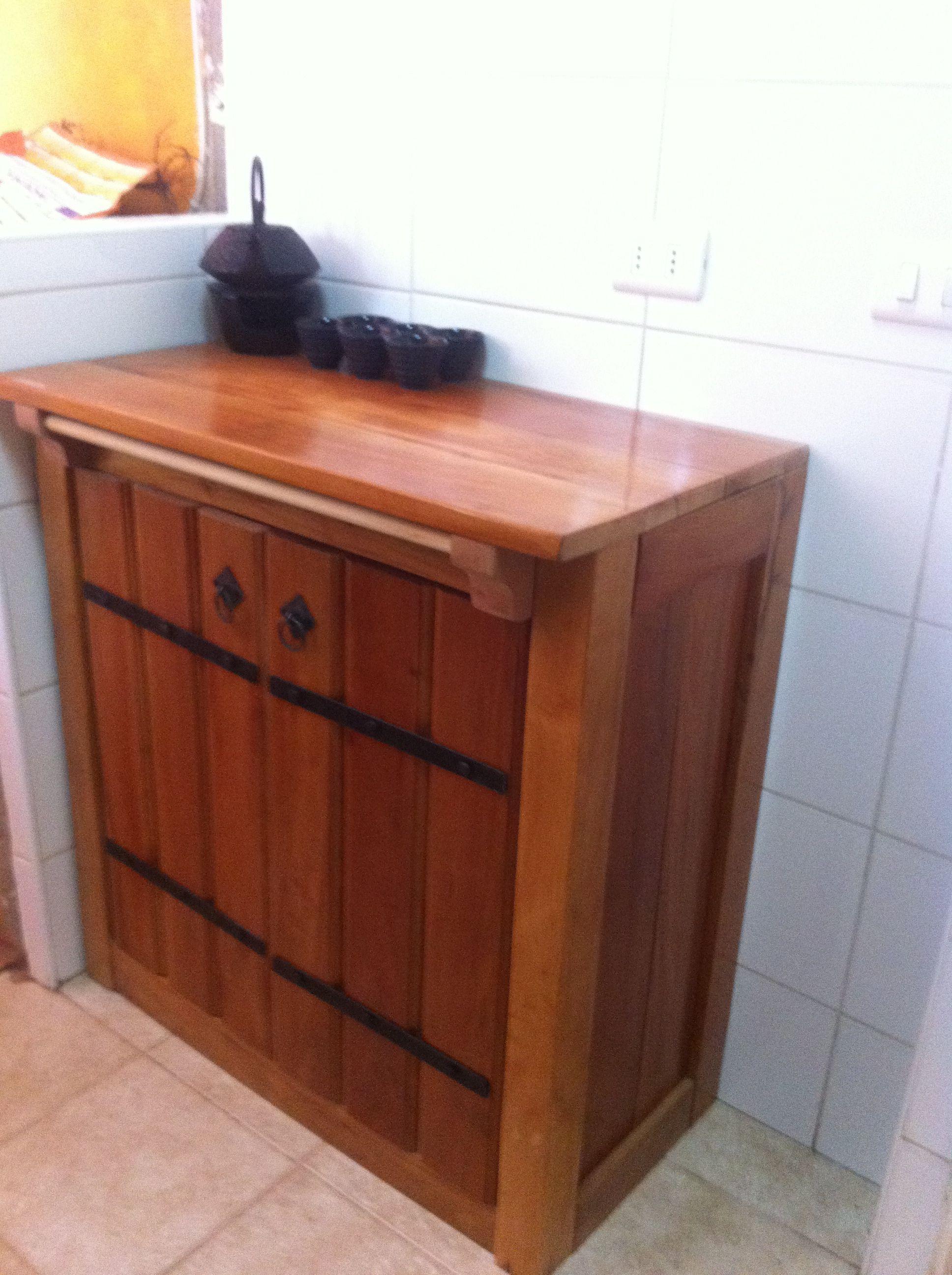 Mueble cocina hecho en madera de roble | Artesanias | Pinterest ...