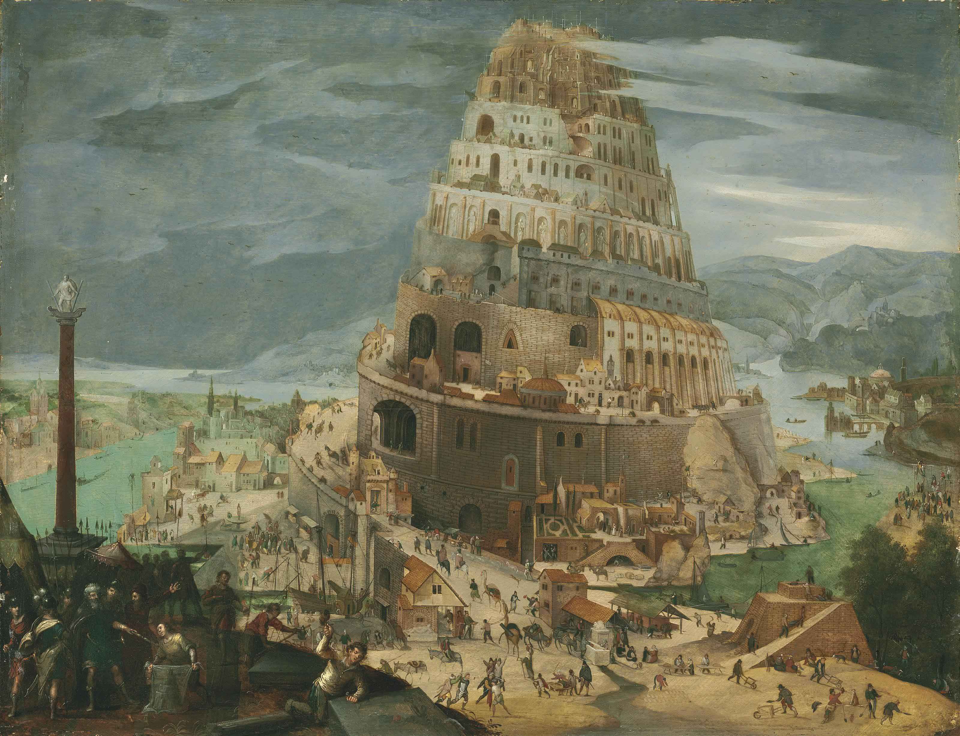 Abel Grimmer Antwerp 9 The Tower Of Babel