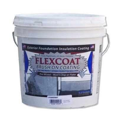 Styro Industries 2 Gal Concrete Grey Flexcoat Brush On Foundation Coating Fccg2 The Home Depot Foundation Insulation Rigid Foam Insulation Rubber Roof Coating