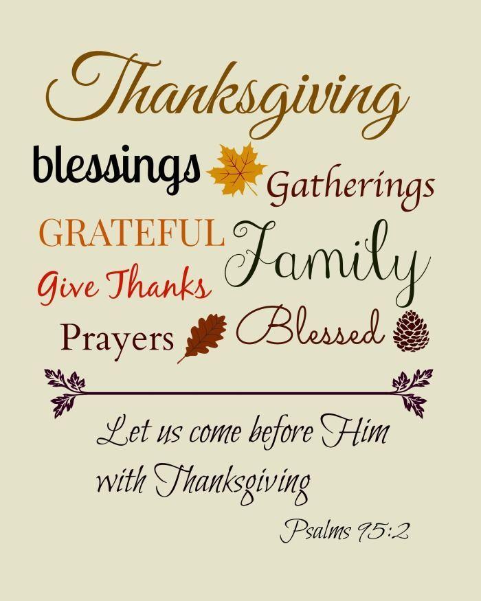 Thanksgiving Subway Art Bible Verse Printable #printable