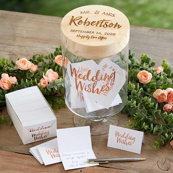 Mr & Mrs Personalized Wedding Wish Jar #personalizedwedding