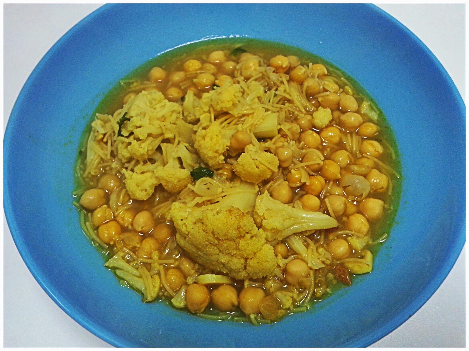 GastroCenicienta: Guiso de Coliflor con Garbanzos al Ras al Hanout