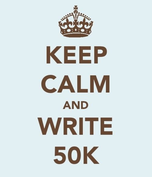 1,667 words/day. Join the insanity. (You can be my #NaNoWriMo friend - just search for HolleyTrent.)
