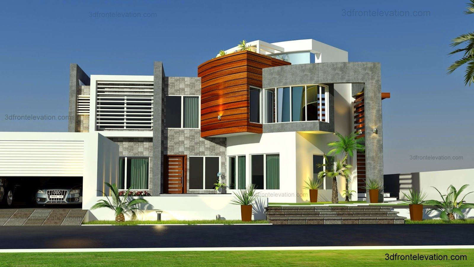 Contemporary modern villa commercial european maps for Plan villa moderne