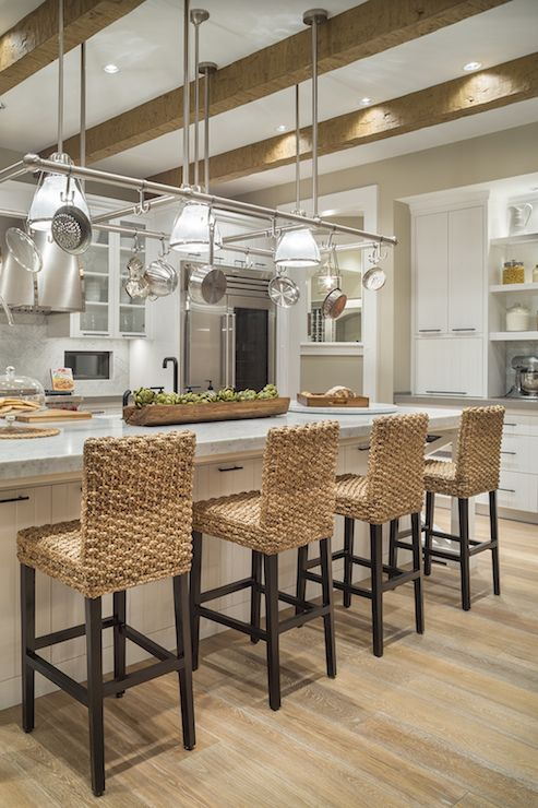 Swell Seagrass Barstools Transitional Kitchen Benjamin Moore Pdpeps Interior Chair Design Pdpepsorg