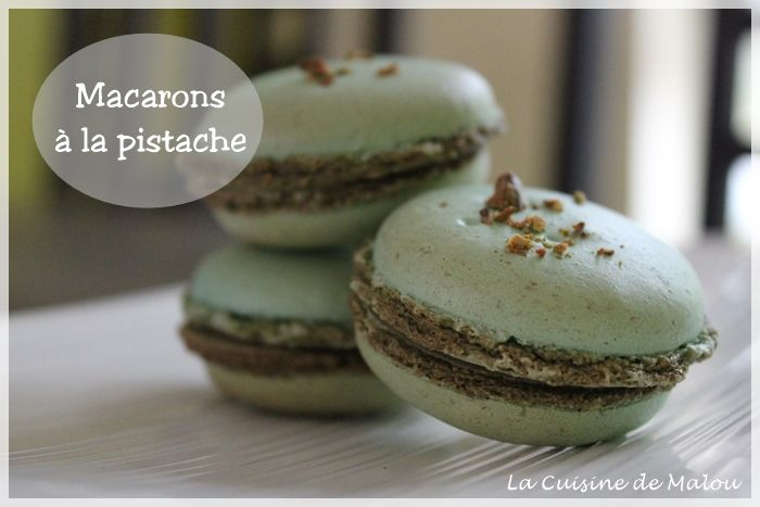 Recette Macarons Pistache Meringue Francaise Macaroons Pinterest