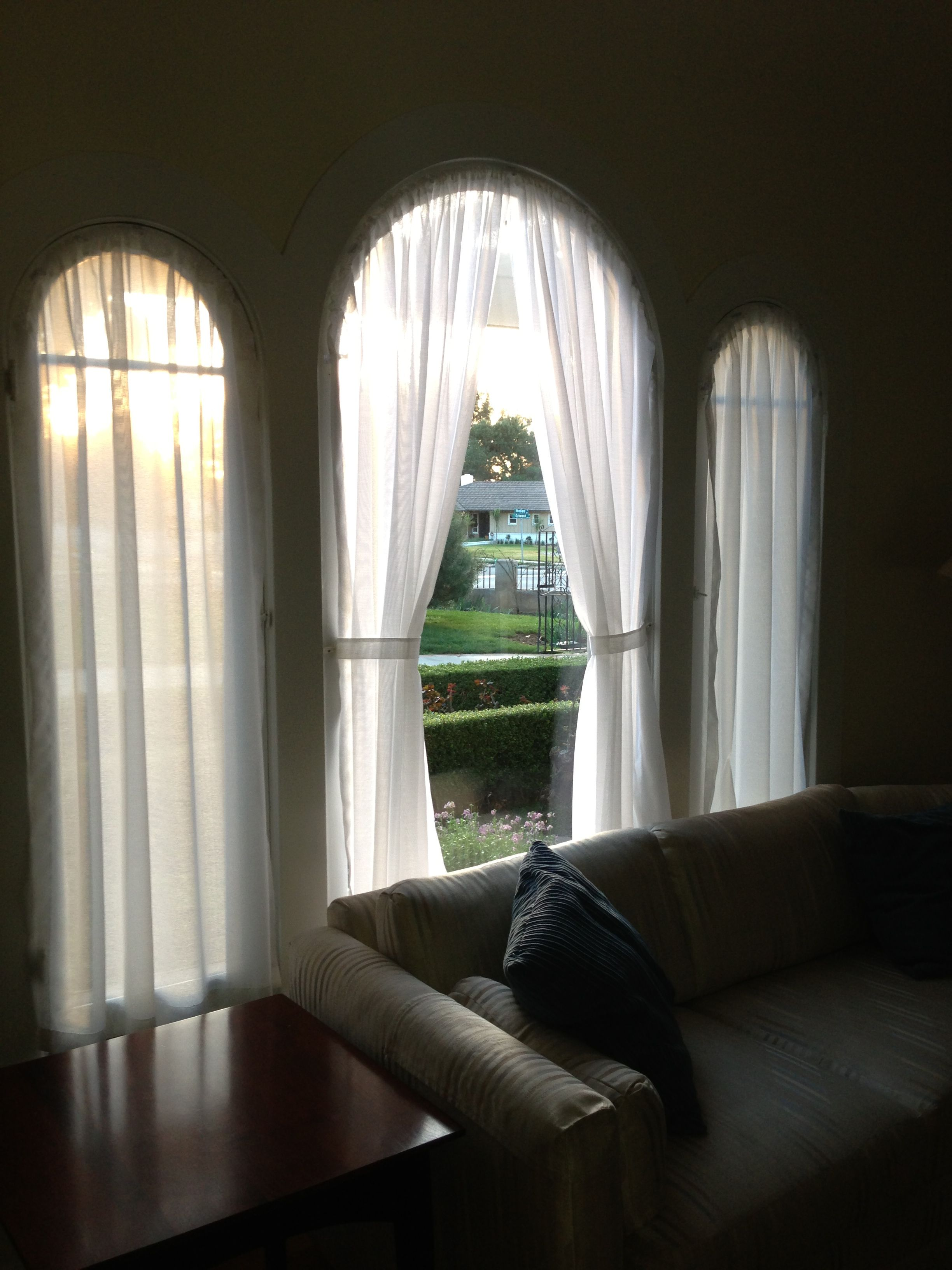 Curtains I Designed Sewed For My Arched Window Kirsch Rods For