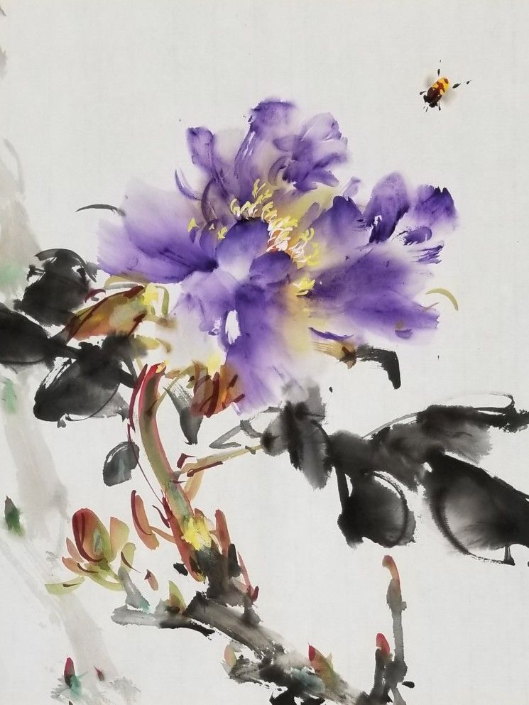 Watercolor Flowers Tutorial Chinese Painting Japanese Painting
