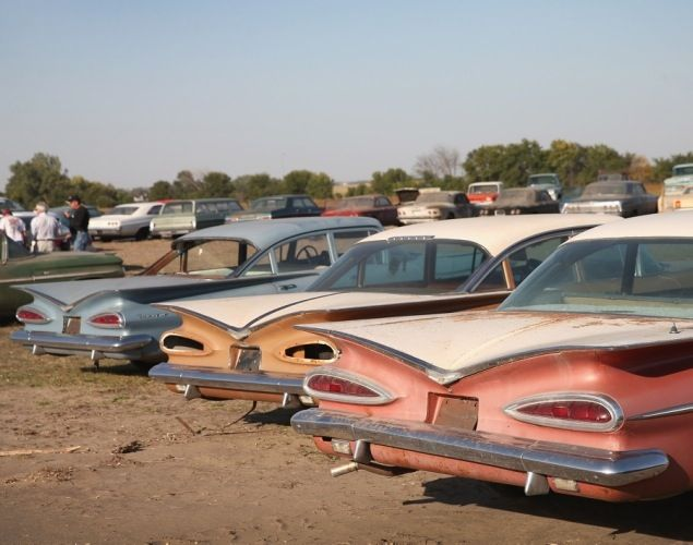 Trio Of 59s Abandoned Cars Junkyard Cars Vintage Cars