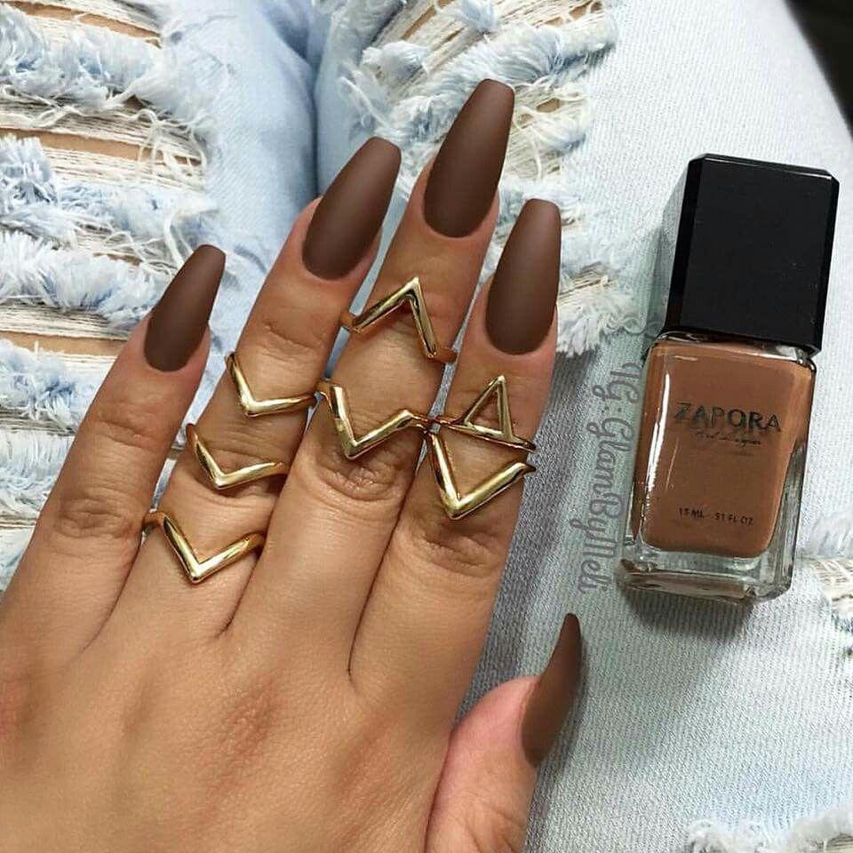 Matte Brown Nail Designs Polish Looks Like My Foundation