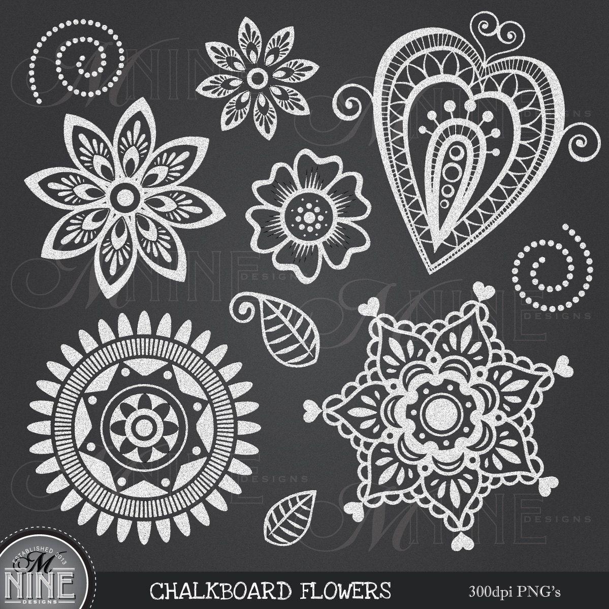 bb576fee Popular items for chalk flower on Etsy | Hand lettering | Photo ...