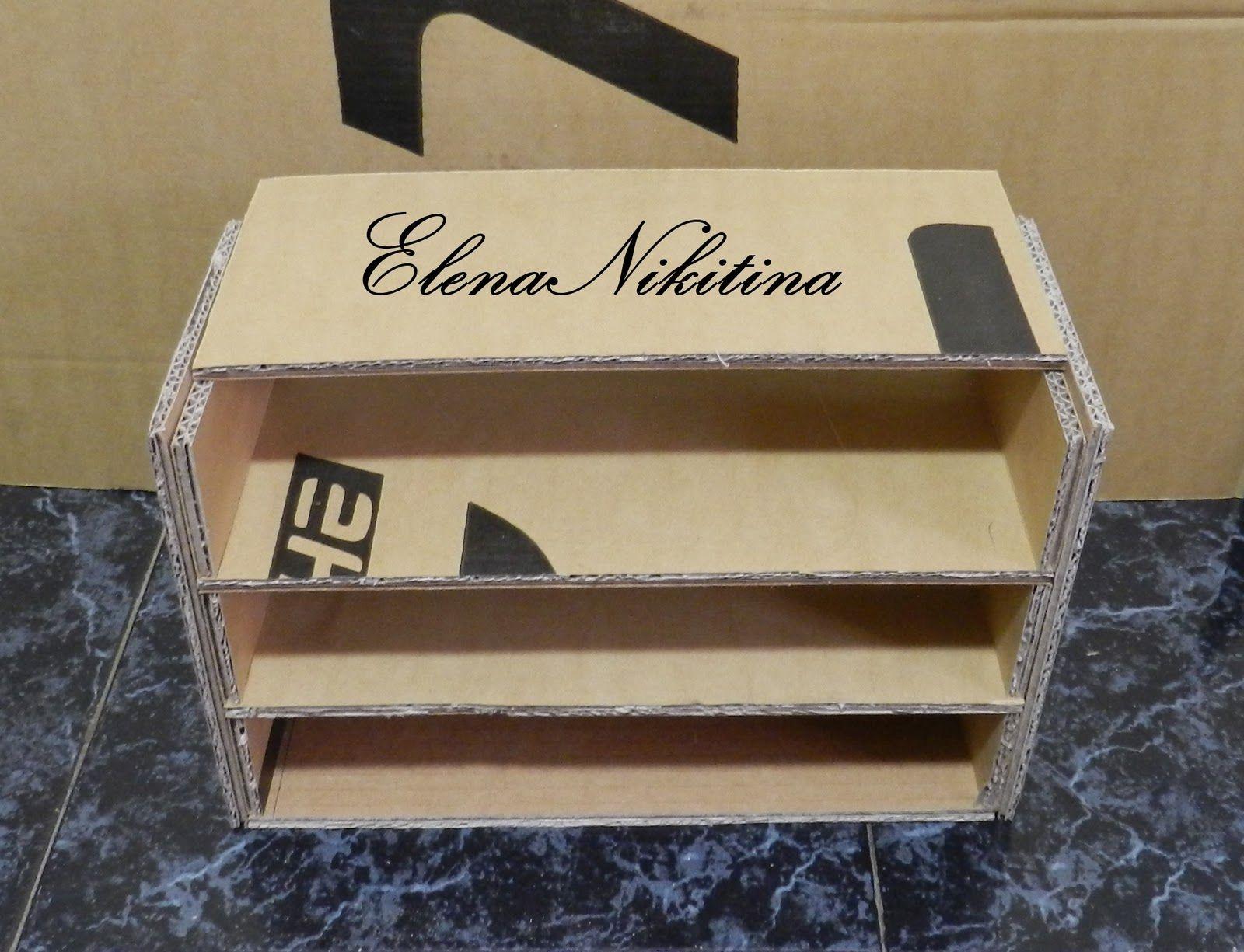 Как сделать полку для обуви своими руками из коробки фото 609