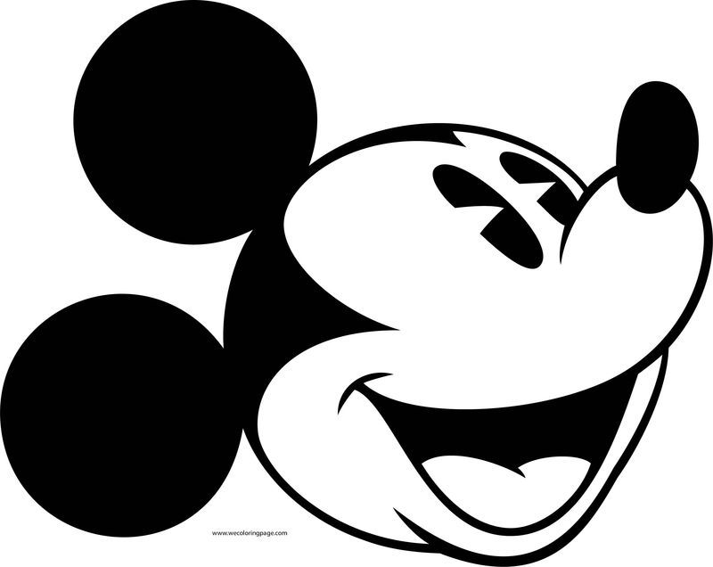 Old Mickey Mouse Face Coloring Page 1 Mickey Mouse Coloring Pages Bunny Coloring Pages Coloring Pages For Kids