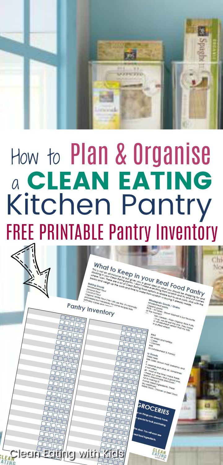 How to Organize your Real Food Pantry | Kitchen pantries, Clean ...
