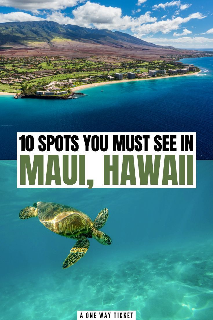 10 Places You Can't Miss in Maui, Hawaii | A One W